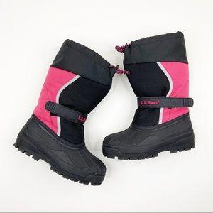 L.L.Bean Boot Winter Rain Snow Kid Shoes Size 3